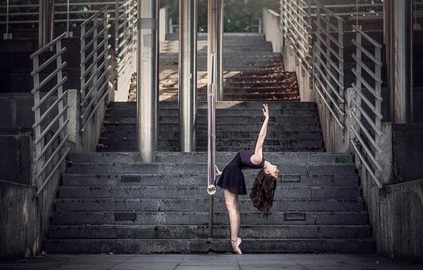 Picture the city, grace, ballerina, Pointe shoes, Malory De Lenclos