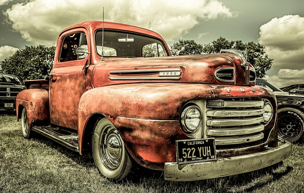 Picture retro, Ford, car, classic, 1948, Pick Up