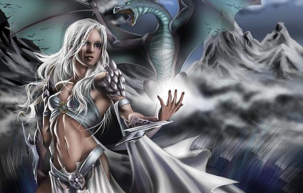 Picture girl, dragon, art, Game of Thrones, Daenerys Targaryen