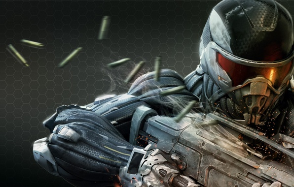Picture weapons, soldiers, sleeve, Crisis 2, Crysis 2, nanosuit