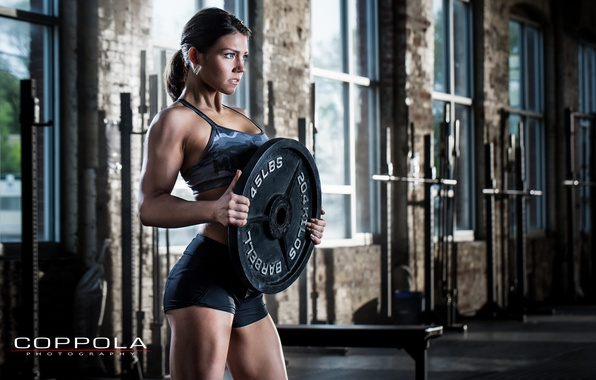 Photo wallpaper pose, female, workout, fitness, crossfit