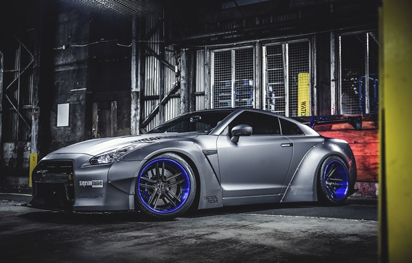Picture Nissan, GT-R, Car, Front, Tuning, Wheels, Spoiler, Liberty Walk, LB Perfomance