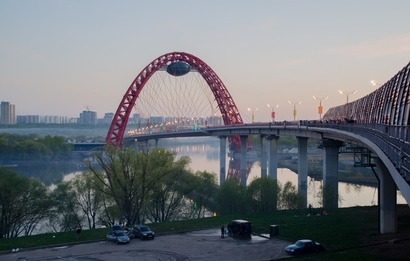 Picture bridge, Moscow, red, bridge, Moscow