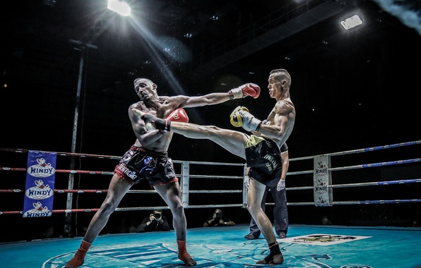 Picture attack, blow, the ring, Thai Boxing, photographer, fighters, welcome, the judge, Boxing, Boxe Thai, Olivier …