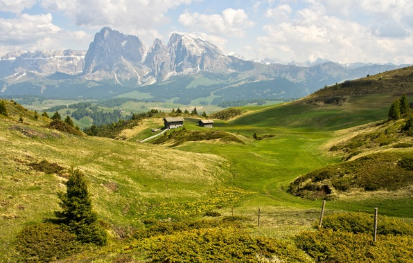 Picture summer, mountains, The Dolomites