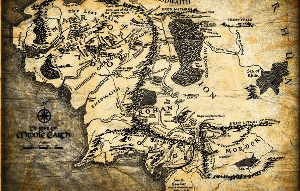 Picture map, The Lord of the rings, John. R. R. Tolkien, The Lord of the Rings, …