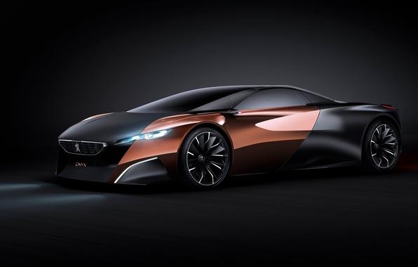Picture Concept, Peugeot, black, Onyx