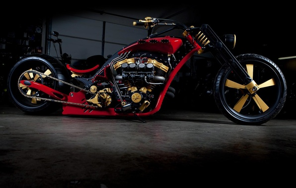 Picture DESIGN, RED, TUNING, DRIVES, WHEEL, ENGINE, BASE, CHOPPER, CHAIN