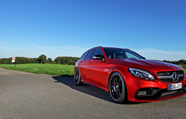 Picture red, Mercedes-Benz, Mercedes, AMG, Wimmer, C-Class, S205