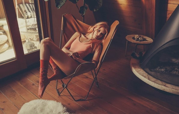Picture girl, sexy, background, model, chair, legs, sexy, beauty, Alena Blohm, Alena Blohm