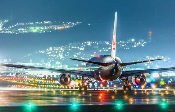 Wallpaper The Plane, Runway, JAL Images For Desktop