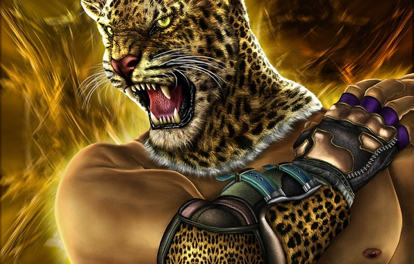 Picture cat, head, warrior, art, mouth, fur, tekken, Zahid Raza Khan