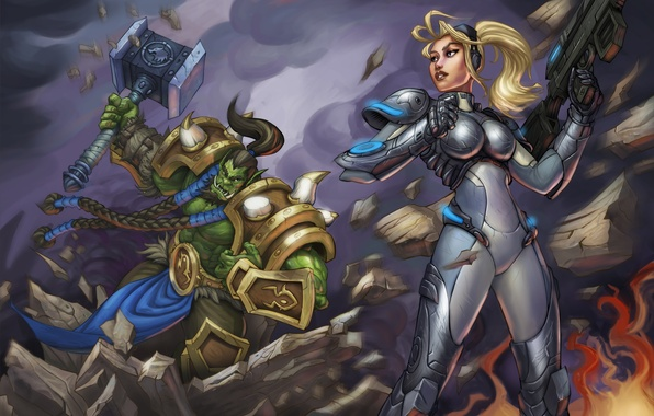 Wallpaper orc art thrall heroes of the storm nova - Heroes of the storm phone wallpaper ...