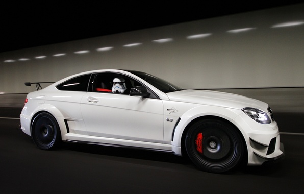 Picture white, Mercedes, white, Mercedes, AMG, AMG, Black Series, C63, C63