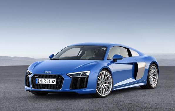 Picture blue, Audi, Audi, V10, 2015