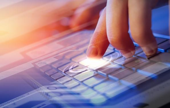 Picture one, protection, blur, code, laptop, Internet, zero, hi-tech, bokeh, security, wallpaper., technology, exchange, data, binary, …