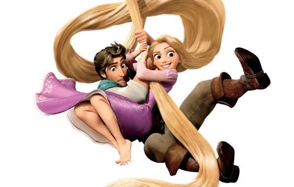 Picture hair, Rapunzel, Princess, the robber, Tangled, Flynn, Rapunzel, complicated story, Flynn Rider