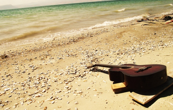Picture guitar, guitar, SEA, see