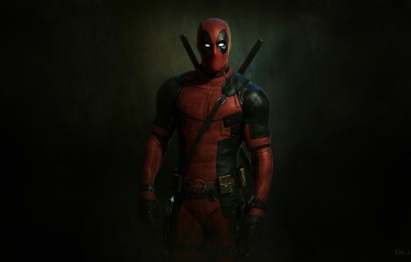 Picture red, marvel, Deadpool, Deadpool, comic