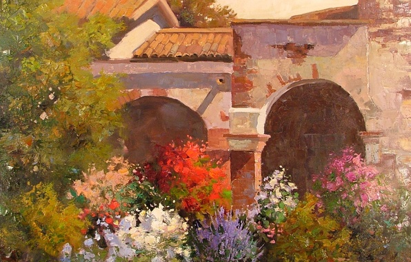 Picture art, Sean Wallis, Evening At The Mission