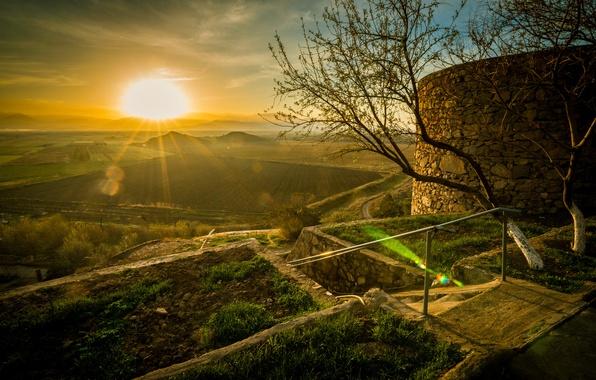 Picture sunrise, Armenia, Ararat