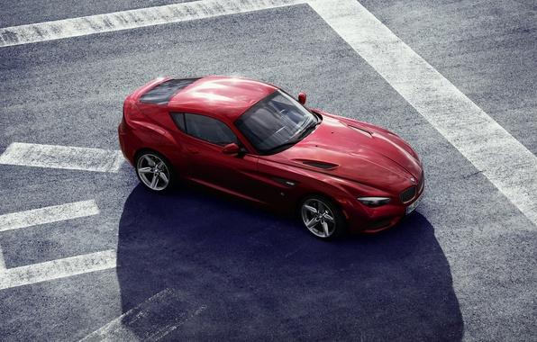Picture machine, bmw, red, zagato coupe