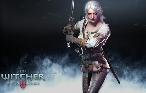 Picture the witcher, the Witcher, wild hunt, ciri