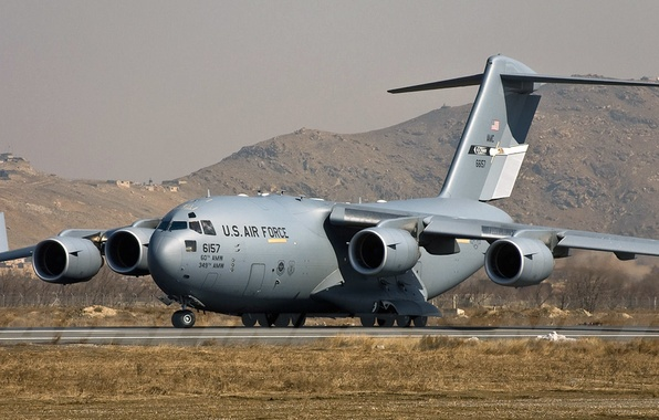 Picture Boeing, UNITED STATES AIR FORCE, C-17, American strategic military transport aircraft, Globemaster III