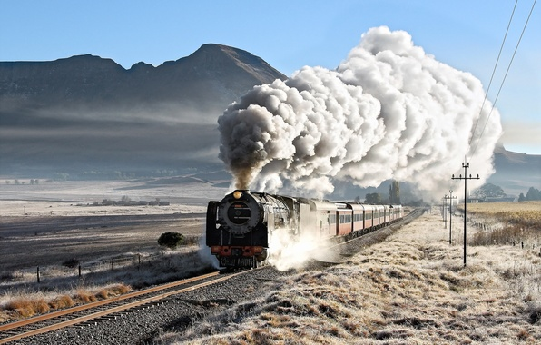 Picture road, background, train