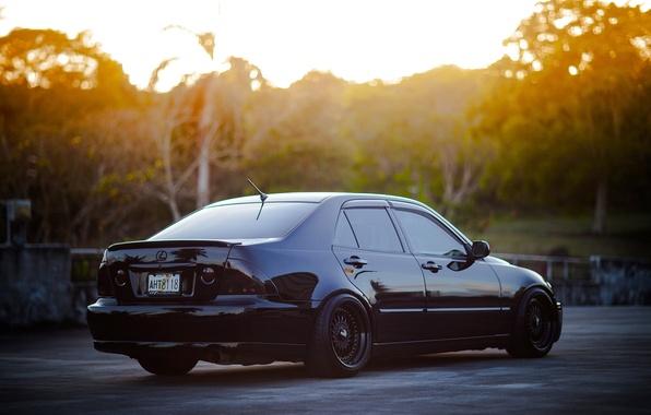 Picture black, tuning, Lexus, black, Lexus, is200