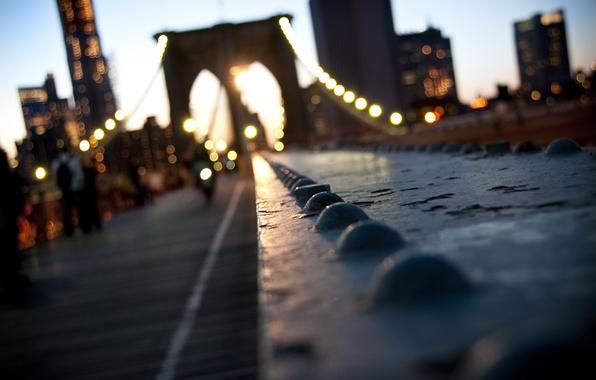 Picture the city, USA, Bridge, Brooklyn, New York, Manhattan, new York, bokeh, New, York