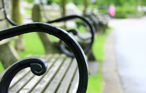 Picture macro, bench, Park, background, widescreen, Wallpaper, blur, shop, shop, wallpaper, square, bench, widescreen, background, full ...