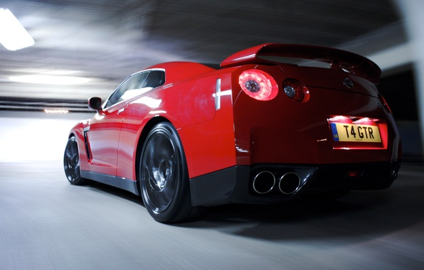 Picture red, headlight, nissan, gt-r