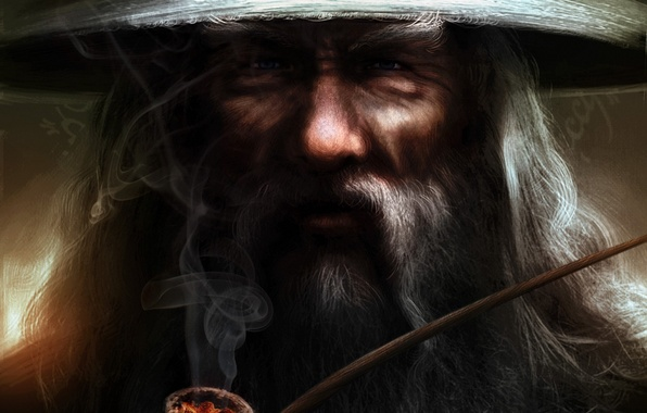 Picture grey, tube, hat, the Lord of the rings, art, MAG, beard, Gandalf, the lord of …