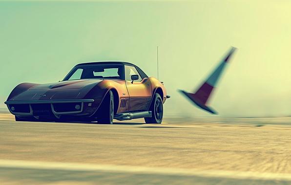 Picture track, Corvette, Chevrolet