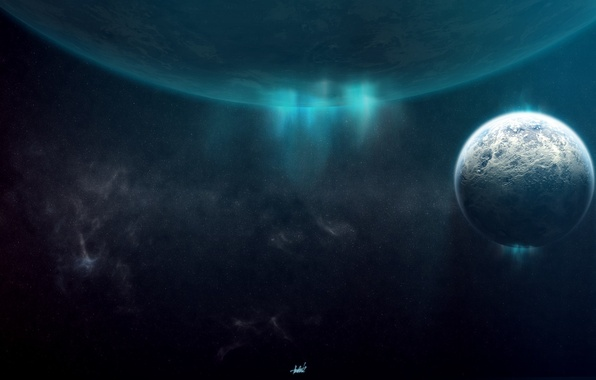 Picture lights, planet, space