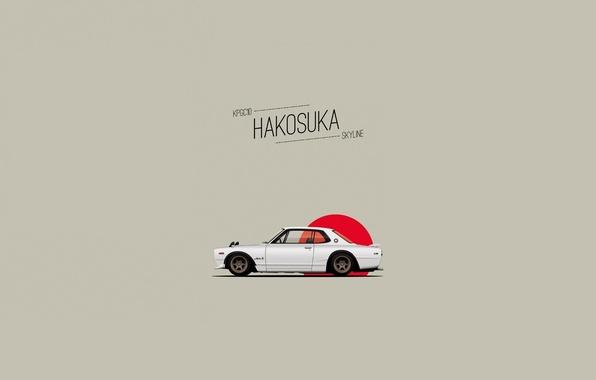 Picture Figure, Nissan, Nissan, GT-R, Art, 2000, Coupe, 1970, Skyline, Skyline, GT-R, C10, KPGC10, Hakosuka