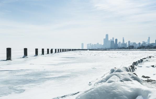 Picture Chicago, Winter, Lake, Michigan