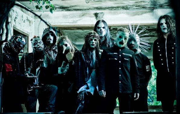 Picture metal, group, slipknot, slipnot