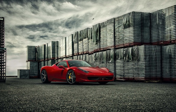 Picture Ferrari, 458, Front, Forged, Series, Italia, Vossen, Wheels, Precision, VPS303