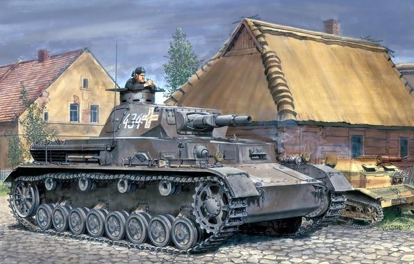 Picture figure, home, tanker, the Wehrmacht, Panzer 4, medium tank, Ron Volstad, Poland 1939, T-4, PzKpfw …