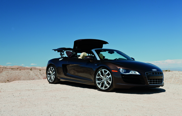 Picture supercar, Audi R8, cars, auto, 2011, Spyder, cars walls, Supercars, Wallpaper HD, audi wallpapers