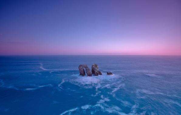 Picture sea, the sky, rock, stones