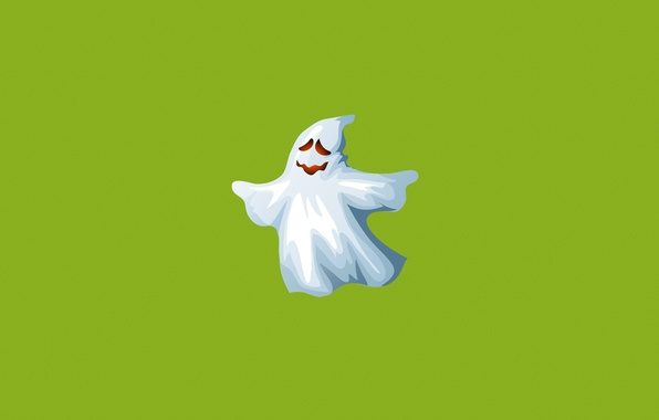 Picture white, green, smile, minimalism, Ghost, ghost, Ghost