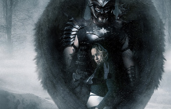 Picture girl, wings, the demon, warrior