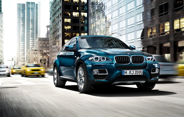 Picture blue, the city, BMW, 35i, xDrive