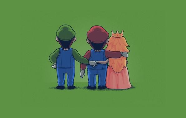 Wallpaper Green Mario Luigi Princess Peach Mario Bros Images For