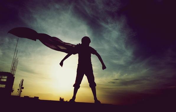 Picture dream, superman, boy, amazing, hero, childhood, superstitious, super hero