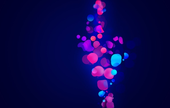 Picture blue, abstraction, bubbles, background, Wallpaper, bright, picture