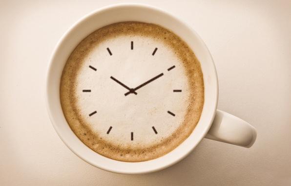 Picture creative, background, widescreen, Wallpaper, watch, coffee, arrow, mug, wallpaper, dial, cappuccino, different, widescreen, background, full …